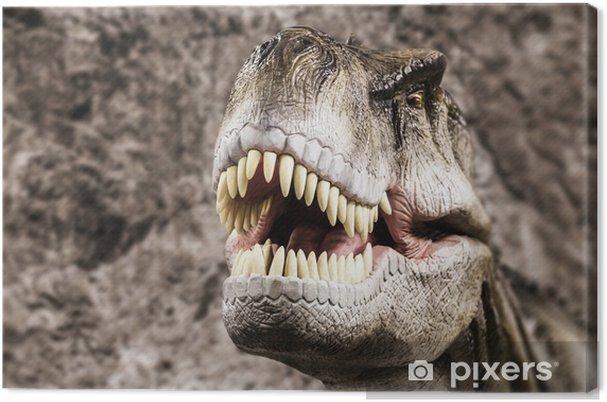 Obraz na płótnie Tyrannosaurus pokazano jego toothy usta - Tematy
