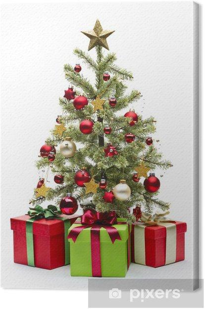 Obraz na płótnie Udekorowane choinki i prezenty - Święta międzynarodowe