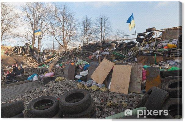 Obraz na płótnie Ukraińska rewolucja, Euromajdan po ataku rządowej f - Inne uczucia
