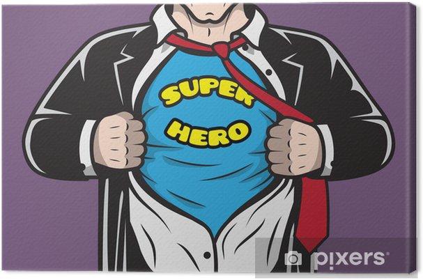 Obraz na płótnie Ukrytego ukryty biznesmen komiks superhero - Sztuka i twórczość