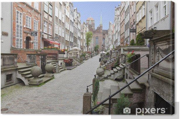 Obraz na płótnie Ulica Mariacka w Starym Mieście w Gdańsku, Polska - Tematy