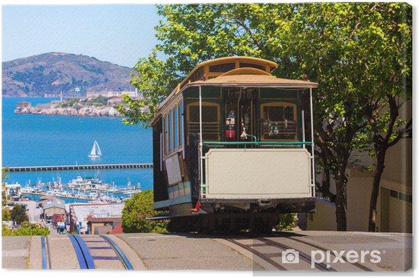 Obraz na płótnie Ulica San Francisco Cable Car Hyde Kalifornia - Miasta amerykańskie