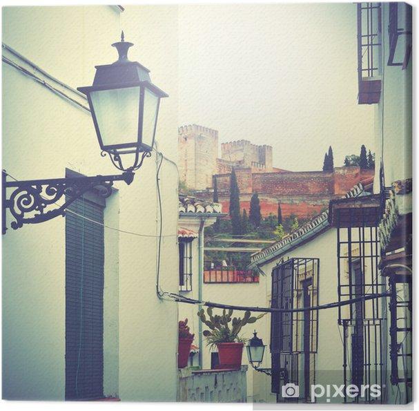 Obraz na płótnie Ulica w Granadzie - Hiszpania