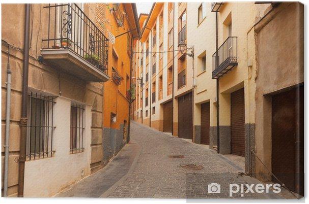 Obraz na płótnie Ulica w hiszpańskim mieście w dzień. Teruel - Europa