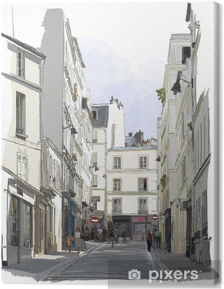 Obraz na płótnie Ulicy w pobliżu Montmartre w Paryżu - Budynki i architektura