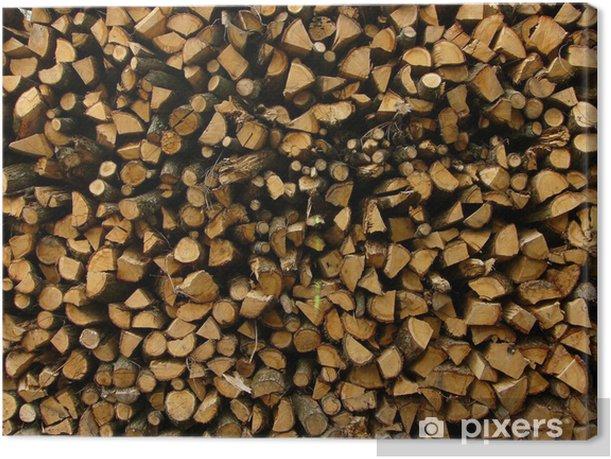 Obraz na płótnie Ułożone drewno - Tekstury