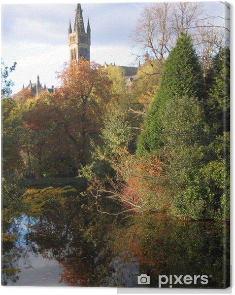 Obraz na płótnie Uniwersytet w Glasgow i parku - Budynki użyteczności publicznej