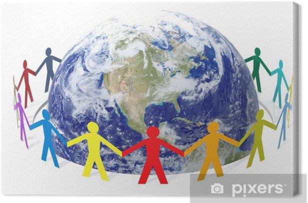 Obraz na płótnie Uratuj świat - Ludzie