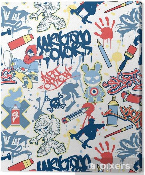 Obraz na płótnie Urban graffiti elementy powtarzalne wektor wzorca - Tematy