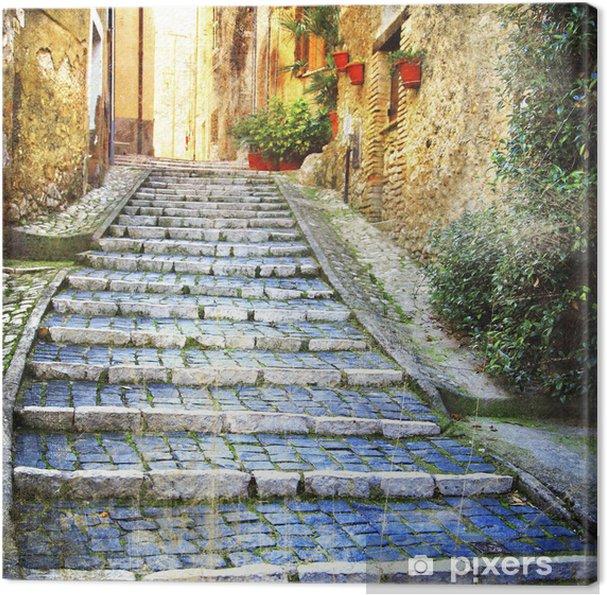 Obraz na płótnie Urocze stare uliczki średniowiecznych wiosek Włoch - Tematy
