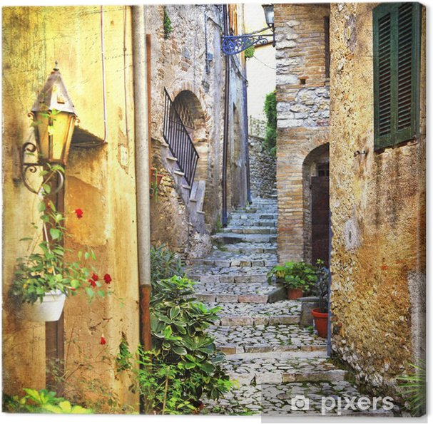 Obraz na płótnie Urocze stare uliczki śródziemnego - Tematy