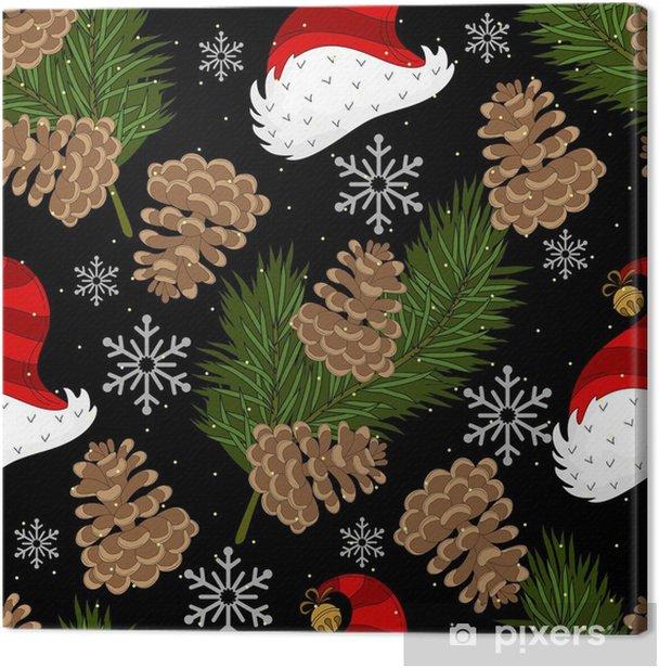 Obraz na płótnie Uroczy Boże Narodzenie wakacje wzór. strony rysunku wektorowego. - Religia i kultura