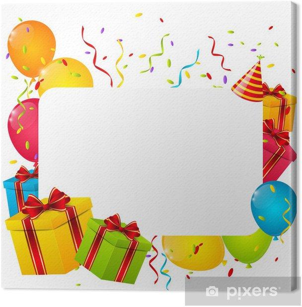 Obraz na płótnie Urodziny tła dla projektu - Świętowanie