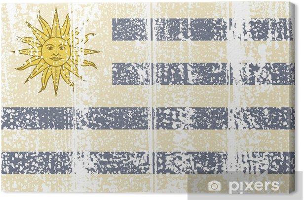 Obraz na płótnie Urugwajski Flaga grunge. ilustracji wektorowych. - Tła