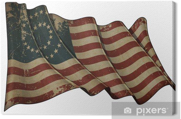 Obraz na płótnie US Civil War Union -37 Gwiazda Medalion-Old Paper - Miasta amerykańskie