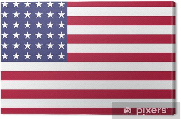 Obraz na płótnie US Flag WWI-WWII (48 gwiazdki) Byt, oficjalne kolory i proporcje obrazu - Tematy