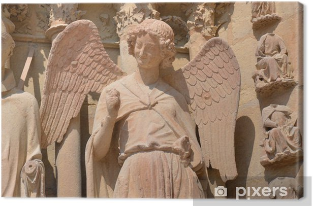 Obraz na płótnie Uśmiechnięta Angel-Reims - Budynki użyteczności publicznej