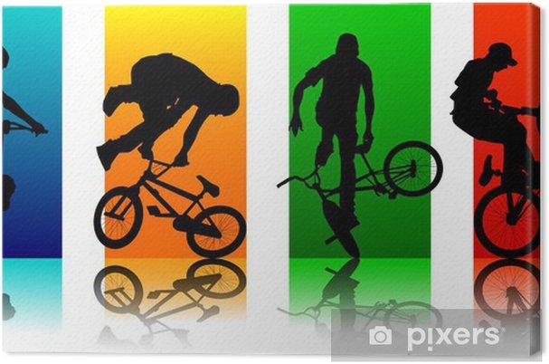 Obraz na płótnie Ustaw Figures BMX -