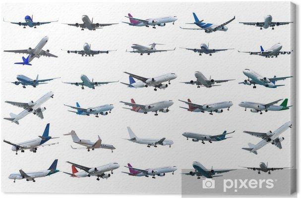 Obraz na płótnie Ustawić samoloty odrzutowe rzeczywistym - Transport powietrzny