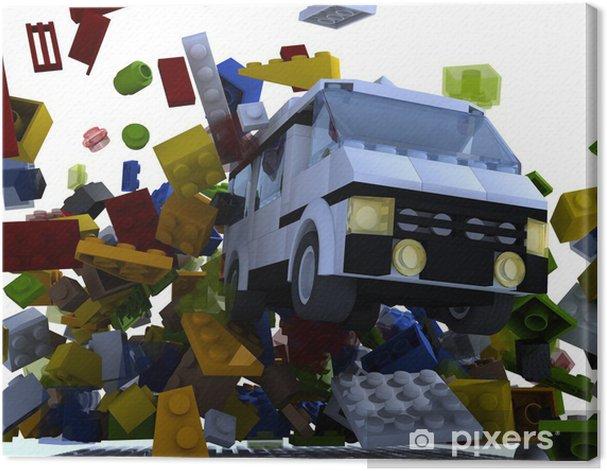 Obraz na płótnie Van hit bloków - iStaging