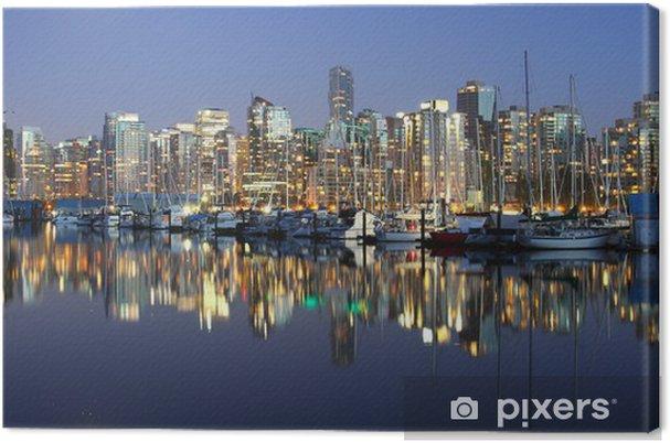 Obraz na płótnie Vancouver wieczór pejzaż - Ameryka
