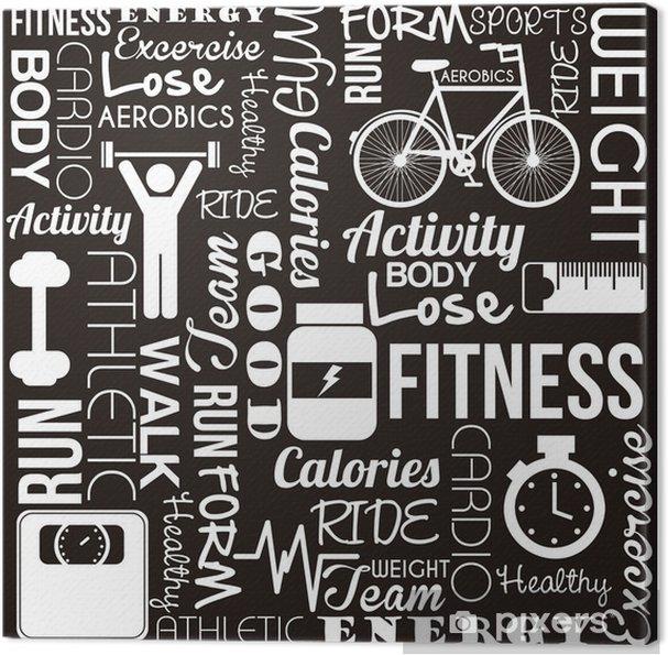 Obraz na płótnie Vector fitness -