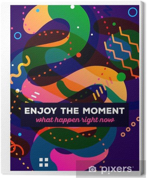 Obraz na płótnie Vector ilustracji kolorowych abstrakcyjnych kompozycji z tekstem O - Zasoby graficzne