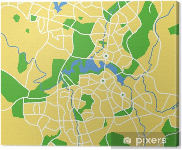Obraz na płótnie Vector map of Canberra. - Oceania