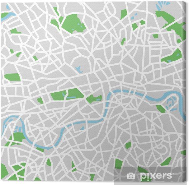 Obraz na płótnie Vector map of London. - Miasta europejskie