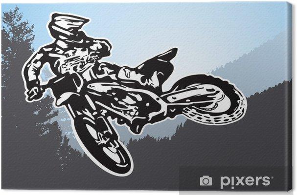 Obraz na płótnie Vector Motorcycle - Tła