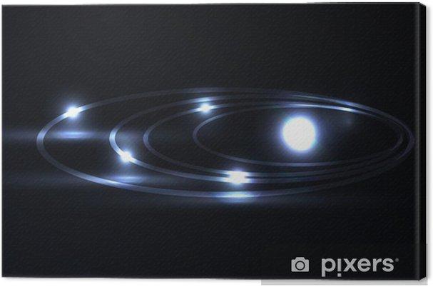 Obraz na płótnie Vector niebieski laser galaxy osoczu - Religie