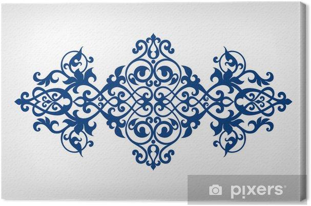Obraz na płótnie Vector ornament wzór ramka kaligrafii - Moda