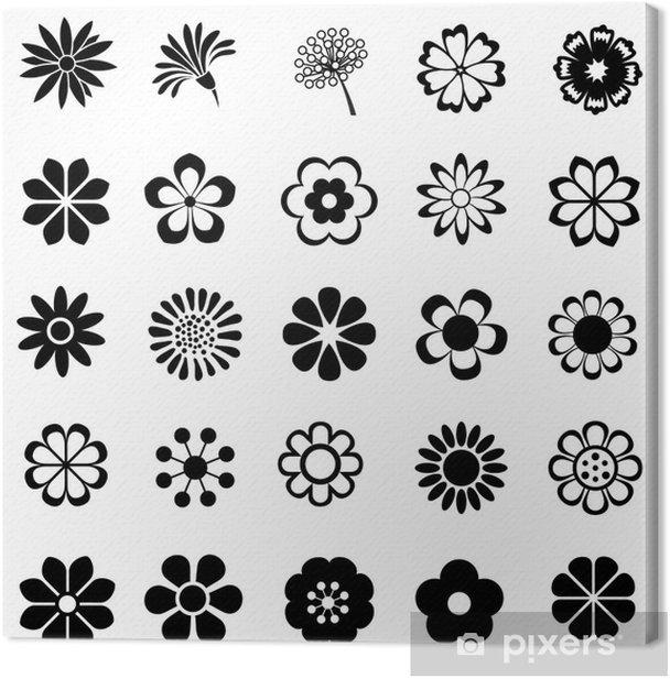 Obraz na płótnie Vector set Flower - Kwiaty