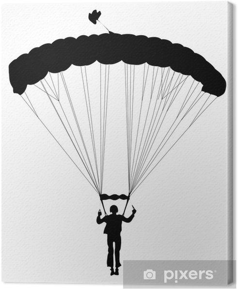 Obraz na płótnie Vector sylwetka skoczek - Sporty indywidualne