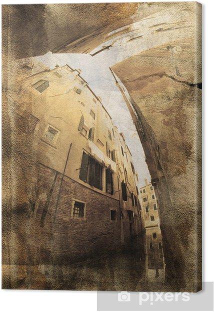Obraz na płótnie Venezia - Old Vintage Postcard - Miasta europejskie