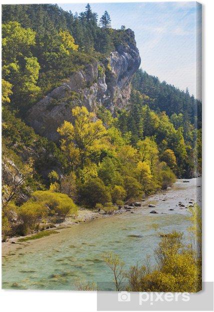 Obraz na płótnie Verdon Gorge jesienią, Prowansja, Francja - Europa