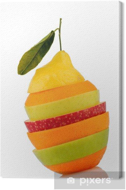 Obraz na płótnie Verschiedne plasterki owoców - Owoce