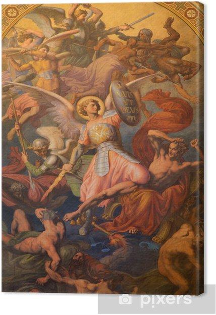 Wybitny Obraz na płótnie Vienna - Archanioł Michał i wojna z złych aniołów NN22