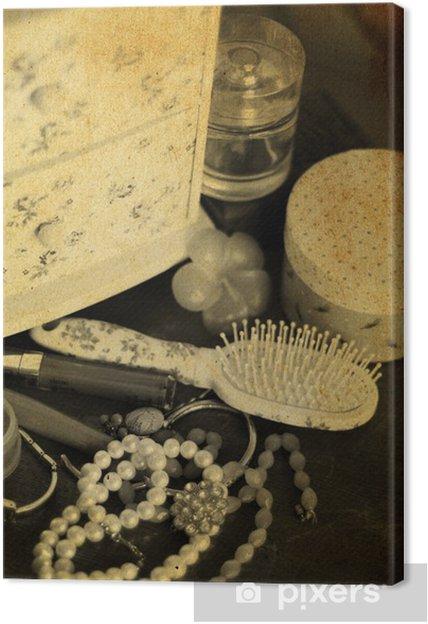 e5cadf92a314dd Obraz na płótnie Vintage, akcesoria kosmetyczne • Pixers® - Żyjemy ...