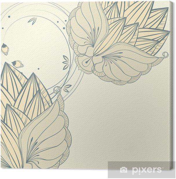 Obraz na płótnie Vintage ilustracja z ornamentem flory - Tła