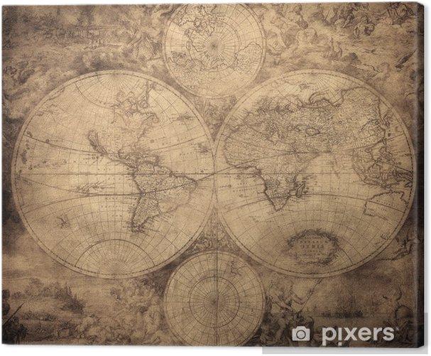 Obraz na płótnie Vintage, mapa świata ok. 1675-1710 - Tematy