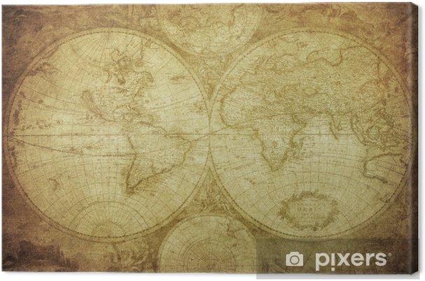 Obraz na płótnie Vintage, mapa świata - Tematy
