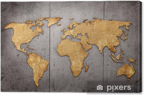 Obraz na płótnie Vintage mapie świata - Tematy