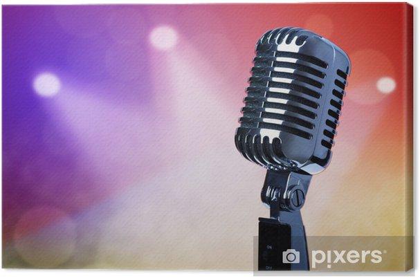 Obraz na płótnie Vintage mikrofon na scenie - Muzyka