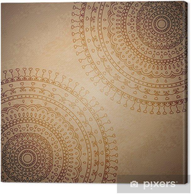 Obraz na płótnie Vintage ornament tło mandala - Znaki i symbole