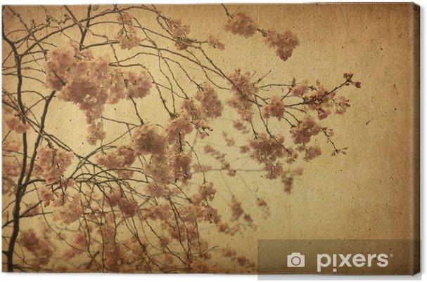 Obraz na płótnie Vintage papieru kwiatowy - Kwiaty