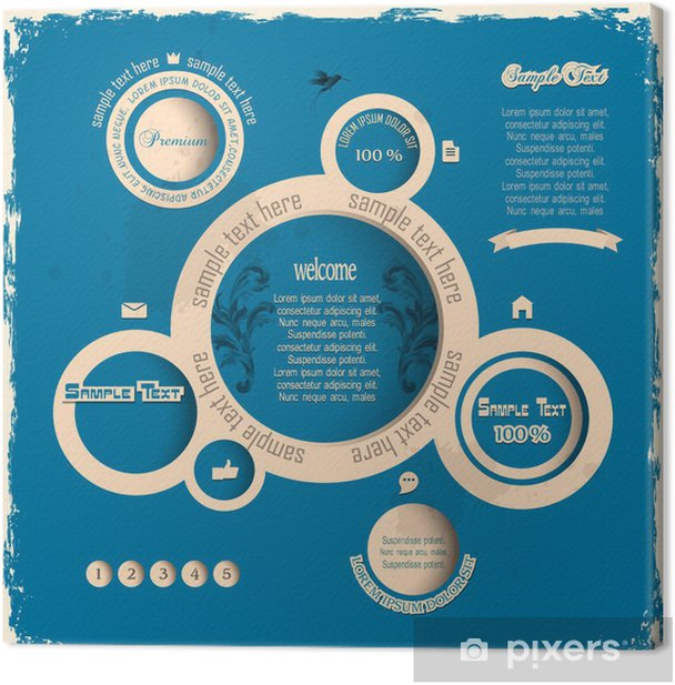 Obraz na płótnie Vintage pęcherzyki projektowanie stron internetowych - Znaki i symbole