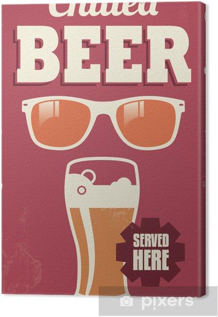 Obraz na płótnie Vintage Retro piwo znak - wektor projektowania plakatu - Sprzedaż