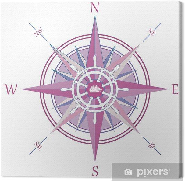 Obraz na płótnie Vintage róża wiatrów kompas - Znaki i symbole