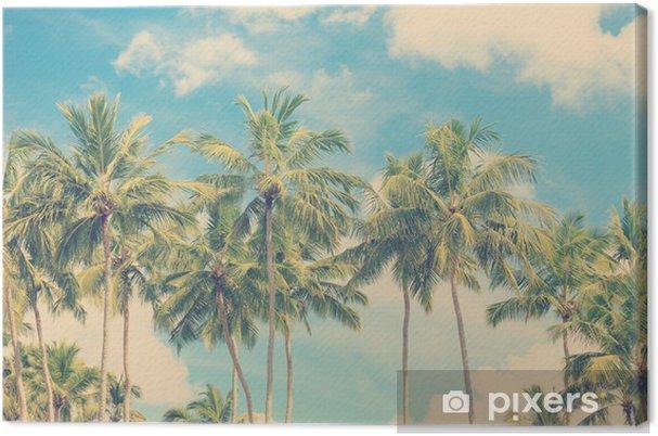 Obraz na płótnie Vintage tropikalnych palm - Palmy